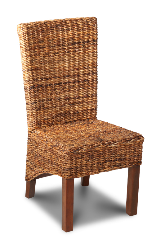 Dark Leg Rattan Chairs