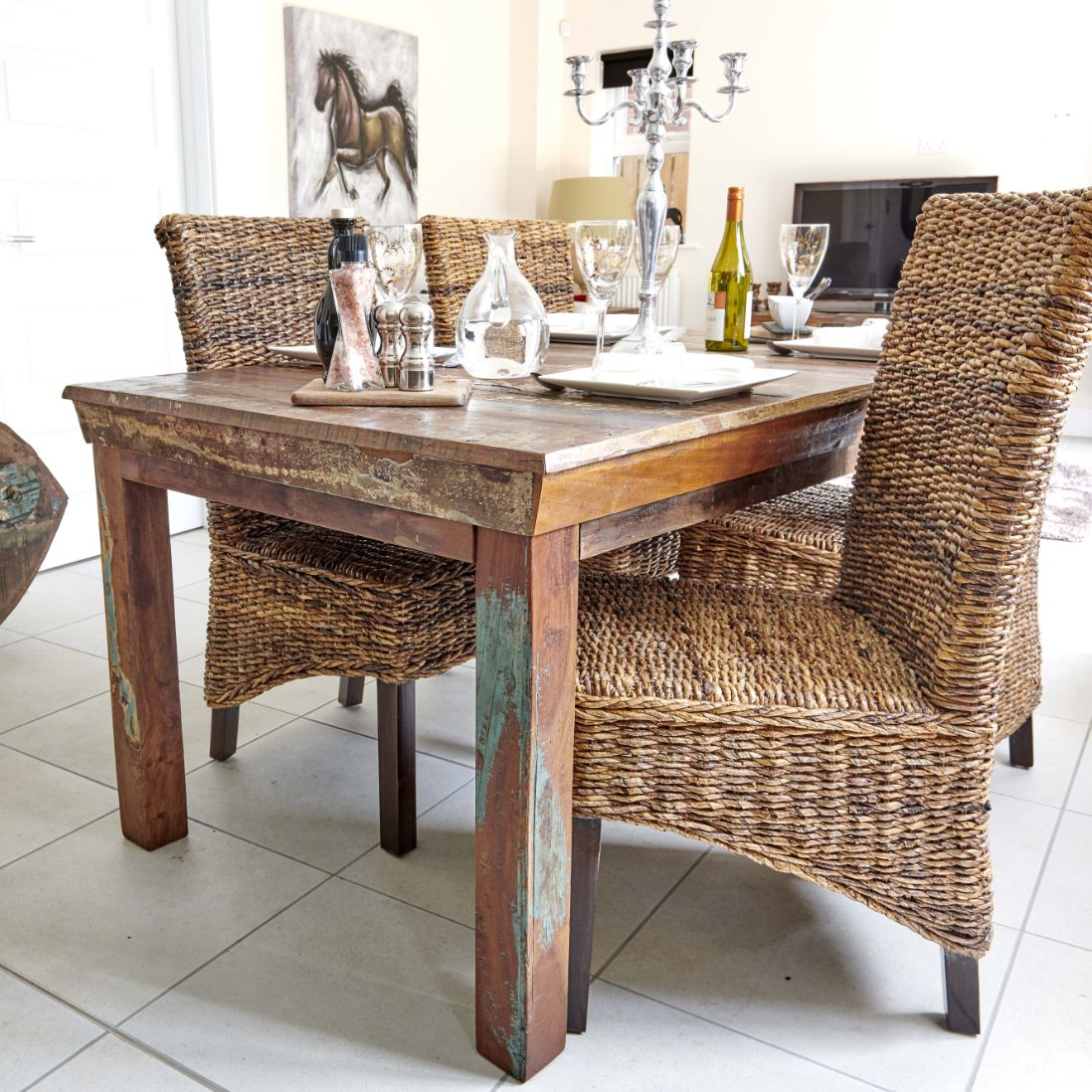 Rattan Dining Chairs, Wicker Rattan Dining Room Chairs