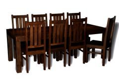 Mango 220cm Dining Table & 8 Mango Dining Chairs
