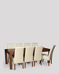 Dakota 220cm Dining Table & 8 Madrid Chairs