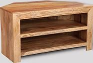 Light Dakota 2 Shelf Corner TV Unit