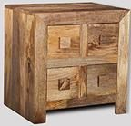 Light Dakota 4 Drawer Bedside Unit