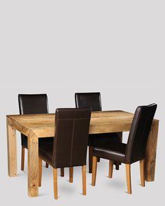 Light Dakota 160cm Dining Table & 4 Barcelona Chairs