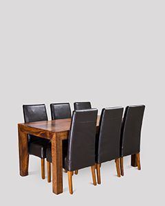 Dakota 180cm Dining Table & 6 Madrid Chairs