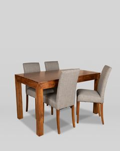 160cm Dakota Dining Table and 4 Milan Dining Chairs