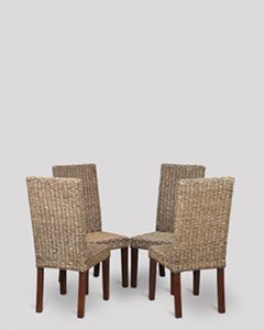 Rattan Antique Dining Chairs x 4