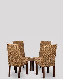 Set of 4 Rattan Havana Chairs