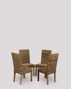 Set of 4 Havana Rattan Chairs