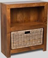 Dakota Small Shelves with Rattan Wicker Basket