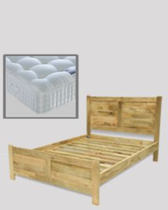 Light Dakota 5ft Bed (King Size) with Mattress