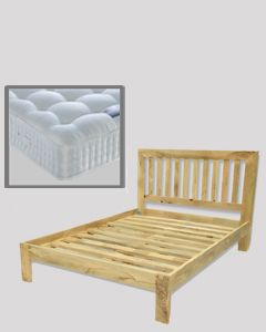 Light Dakota 5ft Bed (King Size) with Mattress