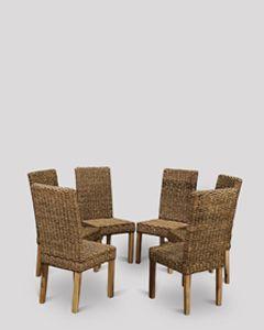 Set of 6 Havana Rattan Chairs