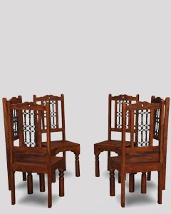 Set of 6 Jali Dining Chairs