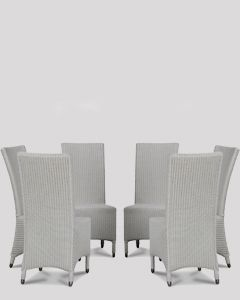 Lloyd Loom White Madera Dining Chairs x6