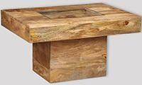 Mango Light Small Glass Topped Coffee Table