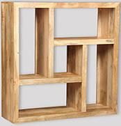 Mango Light Square Bookcase