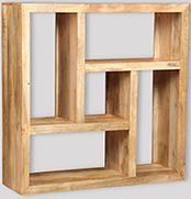 Mango Light Square Bookcase