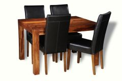 Small Cube Dining Table & 4 Barcelona Chairs