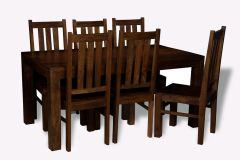 Mango 180cm Dining Table & 4 Dining Chairs