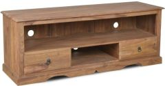 Natural Medium Jali TV Unit