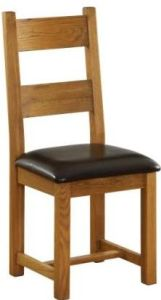Atlanta Dining Chair with Chocolate Leather Seat