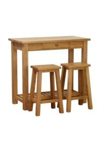 Atlanta Console Table with Drw and 2 Stools