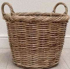 Rattan Round Log Basket