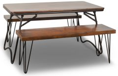 Light Vintage Folding Table & 4 Chairs