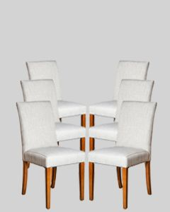 Set of 6 Milan Fabric Chairs