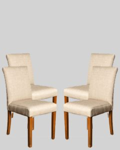 Set of 4 Milan Fabric Chairs
