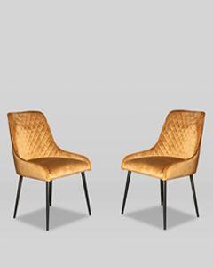 Set of 2 Henley Velvet Chairs