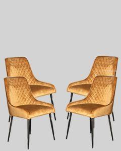 Set of 4 Henley Velvet Chairs
