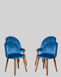 Set of 4 Zena Velvet Chairs