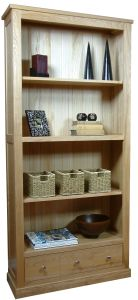 Mobel Oak 3 Drawer Bookcase