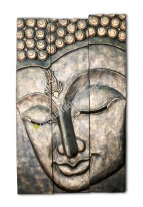 Carved Wooden Buddha Plaque