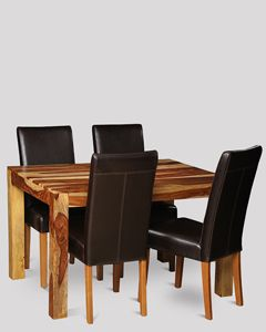 Small Cuba Light Dining Table & 4 Barcelona Chairs