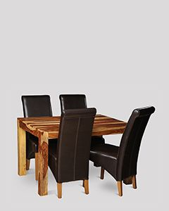 Cube Light 120cm Dining Table & 4 Rollback Chairs