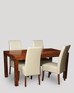 Cube Dining Table & 4 Madrid Chairs