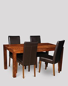 Cube Dining Table & 4 Barcelona Chairs