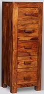 Cuba 5 Drawer Tall Boy