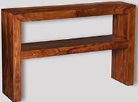 Cube Honey Console Table