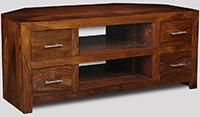 Cube Honey 4 Drawer TV Unit