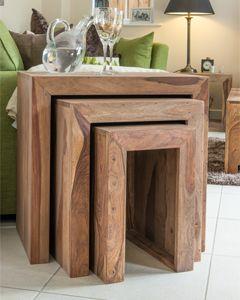 Cuba Natural Nest of Tables