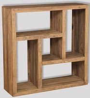 Cube Natural Square Bookcase