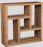 Cuba Natural Square Bookcase
