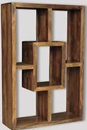Natural Cuba Large Square Bookcase