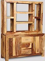Cube Light Large Multi-Shelf Dresser Open Back
