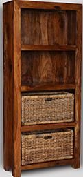 Cube Honey Bookcase with Baskets