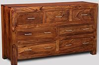 Cube Honey 7 Drawer Chest