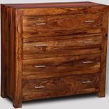 Cube Honey 4 Drawer Chest